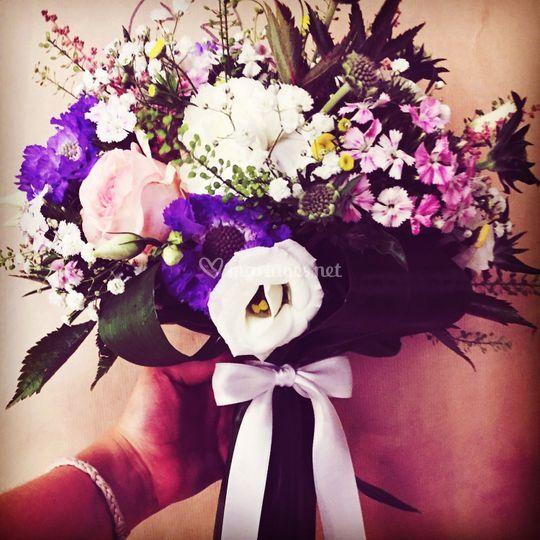 Bouquet de mariee champêtre