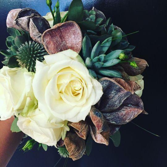 Bouquet avec plantes grasse