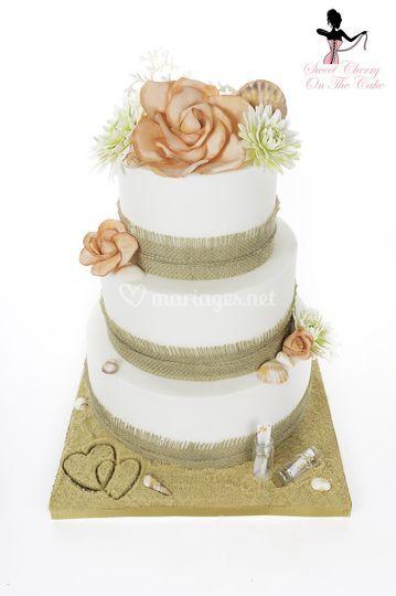 Wedding cake thème été