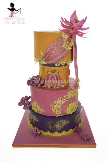 Wedding cake thème Bollywood