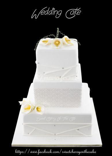 Wedding cake design épuré