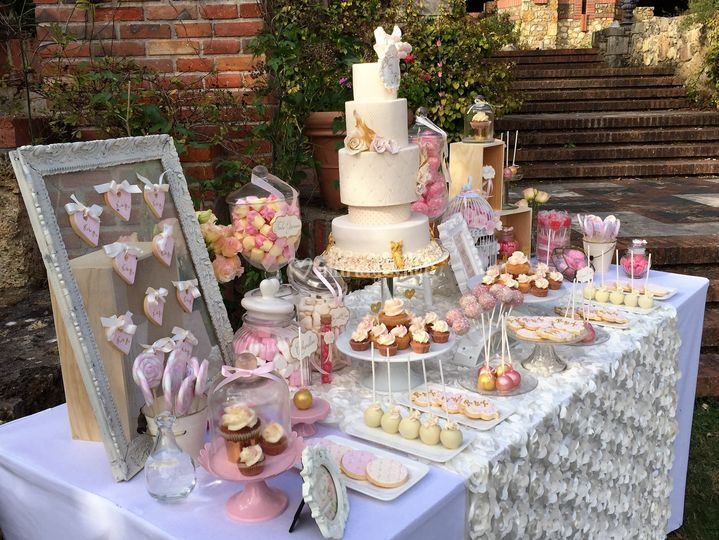 Wedding cake et sweet table