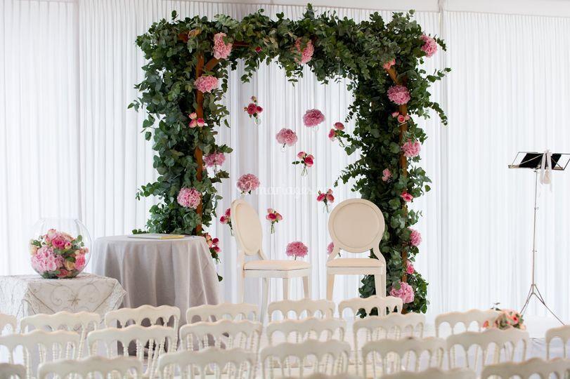 Décoration florale cérémonie