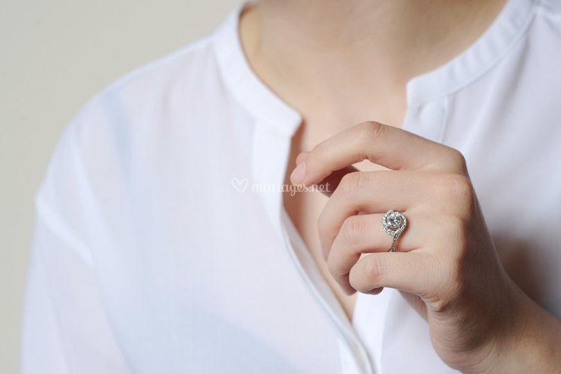Bague diamants fiançailles