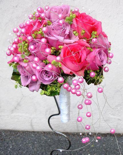 Le jardin de foch - Bouquet mariee rose ...
