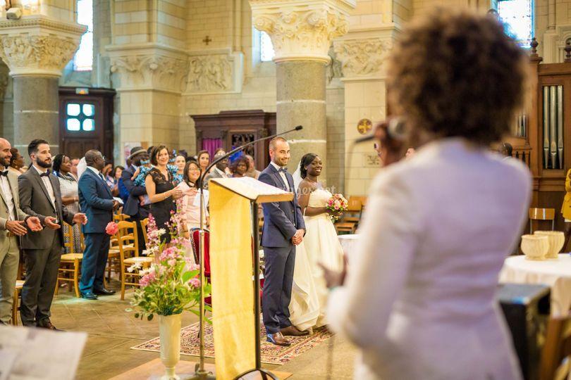 Mariage église en duo