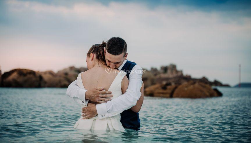 Couple à la mer
