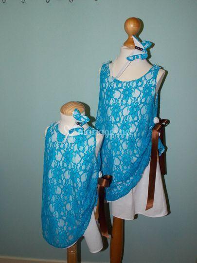 Robes dentelle 2 ans et 6 ans