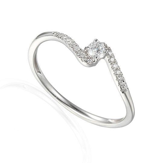 Solitaire diamant accompagné