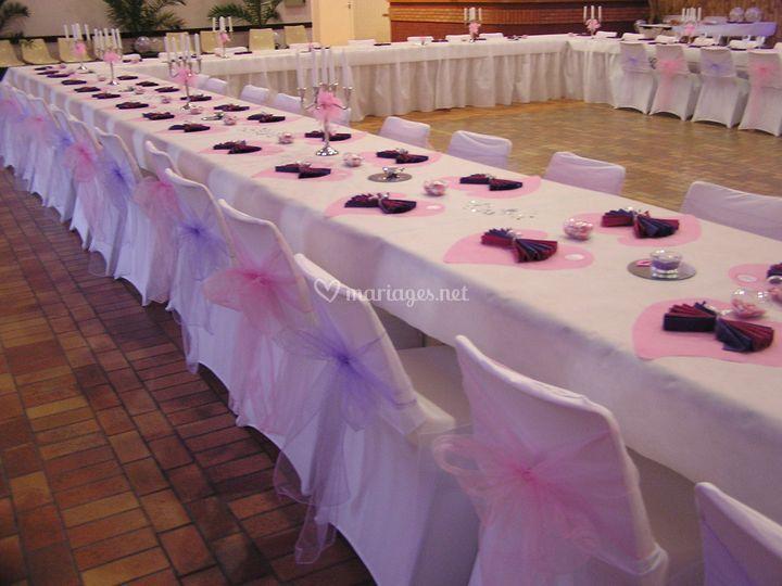 Table en U tons pastels