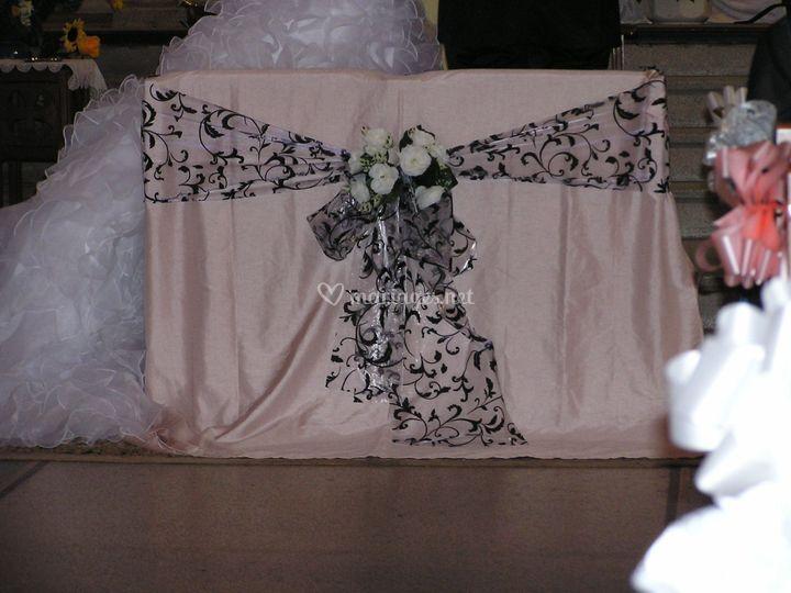 Fauteuil des mariés Eglise