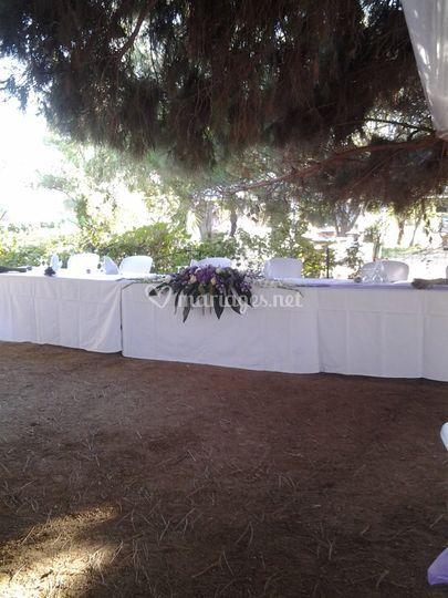 Centre de table allongé