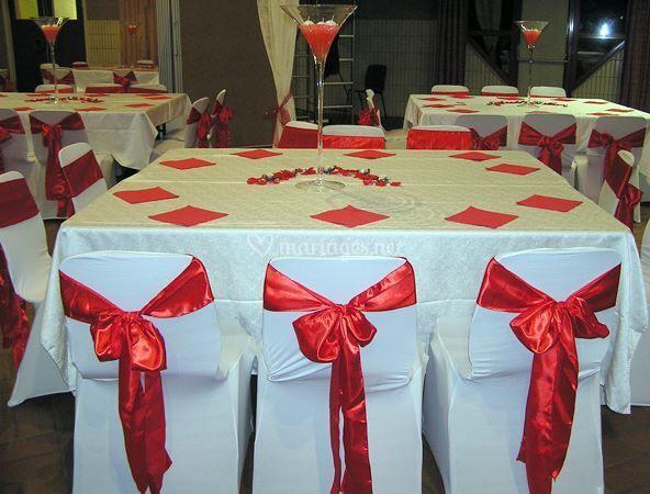 Mariage Satin rouge