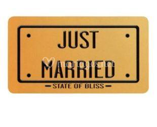 Plaque vive les mariés