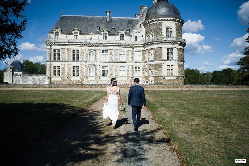 Les mariés au château