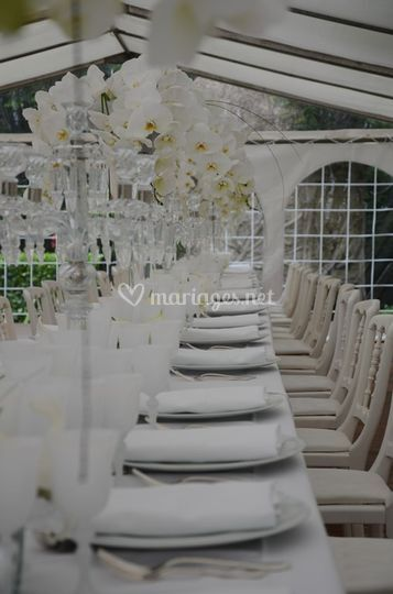 Table rectangulaire mariage