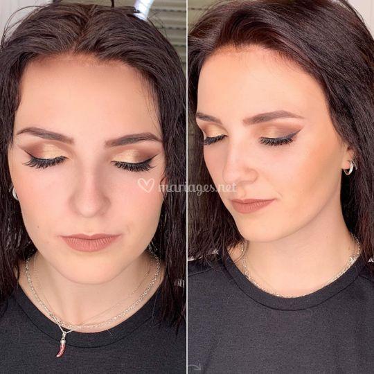 Makeup Nude Gold
