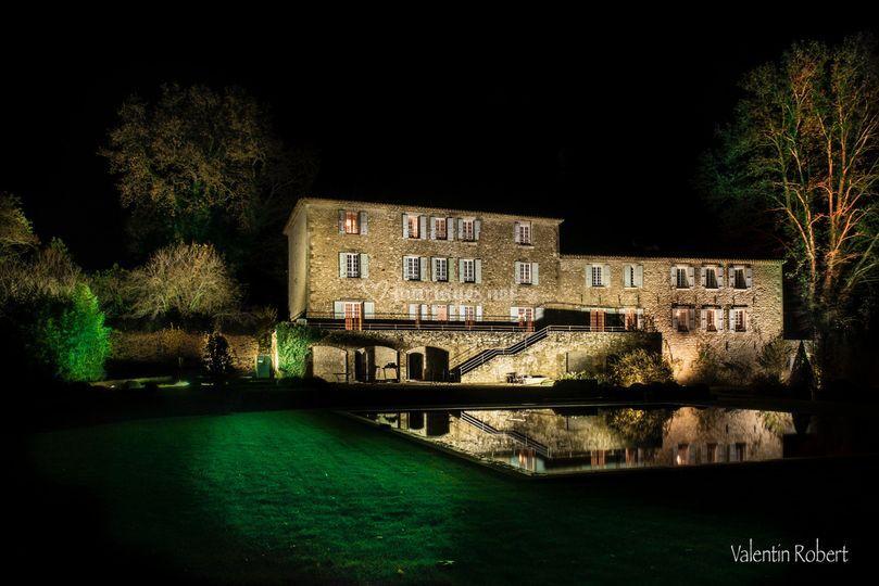 La Château du Griffon en nocturne