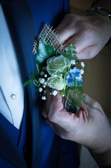 Bouquet de fleurs costume