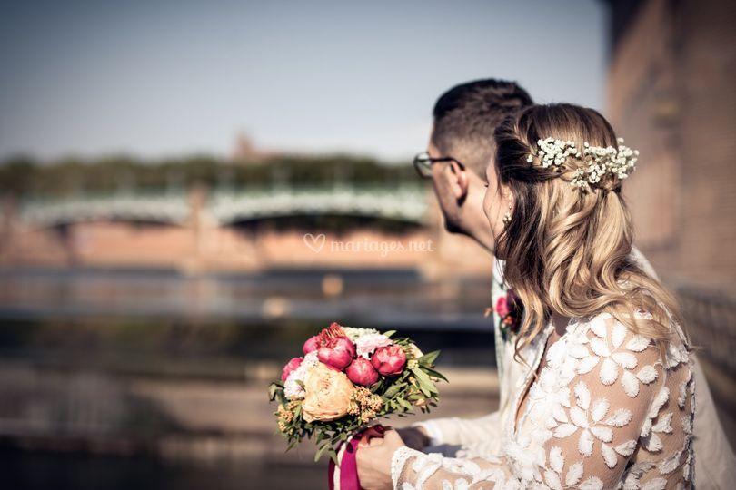 Photos de couple sur les quais