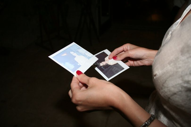 Des polaroid de mariage