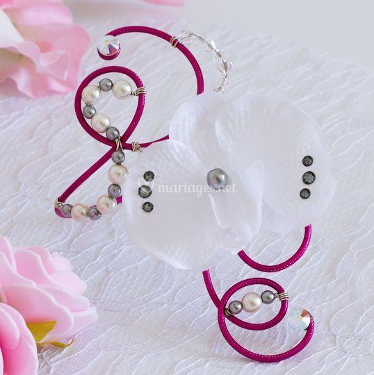 Bracelet mariage alu fleur
