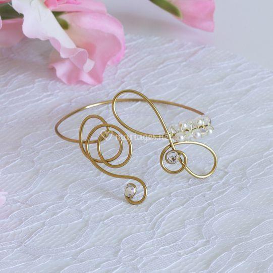 Bracelet mariage laiton doré