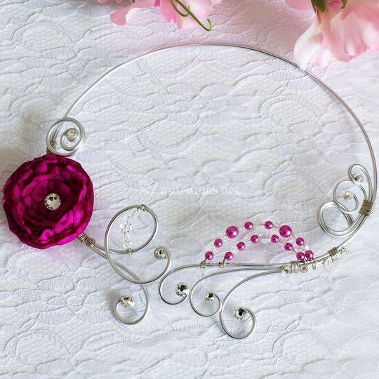 Collier mariage alu fleur