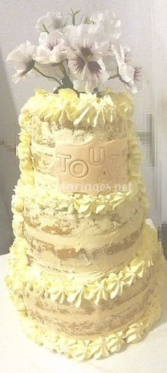 """Wedding cake""""naked"""""""