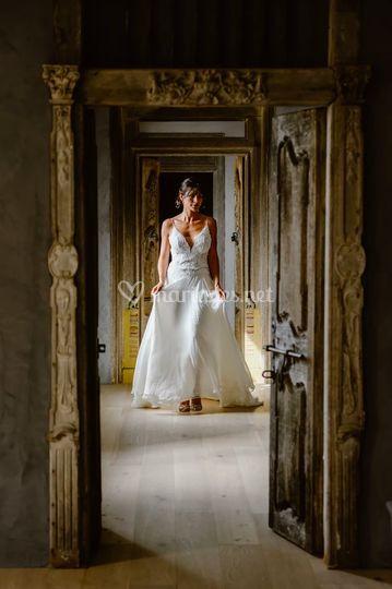 La mariée qui déambule