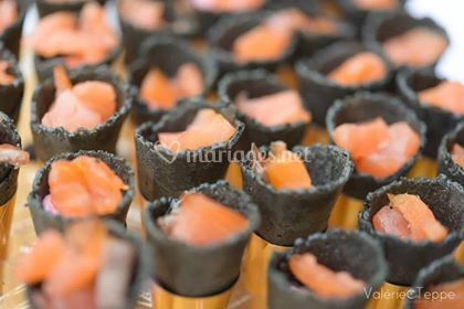 Mini cornet saumon