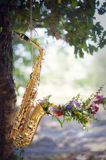 Le saxo fleuri