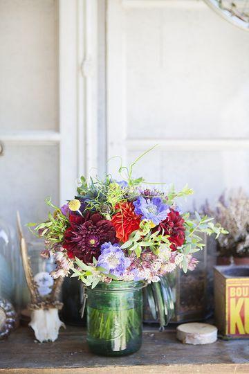 Bouquet de deuil en couleurs