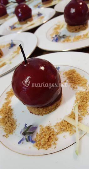 Foie gras en pomme d'amour