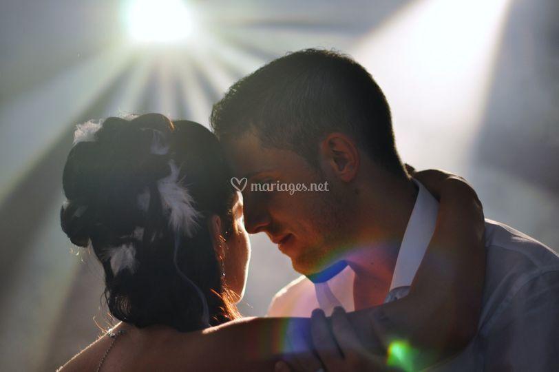 Photo de couple en pleine nuit