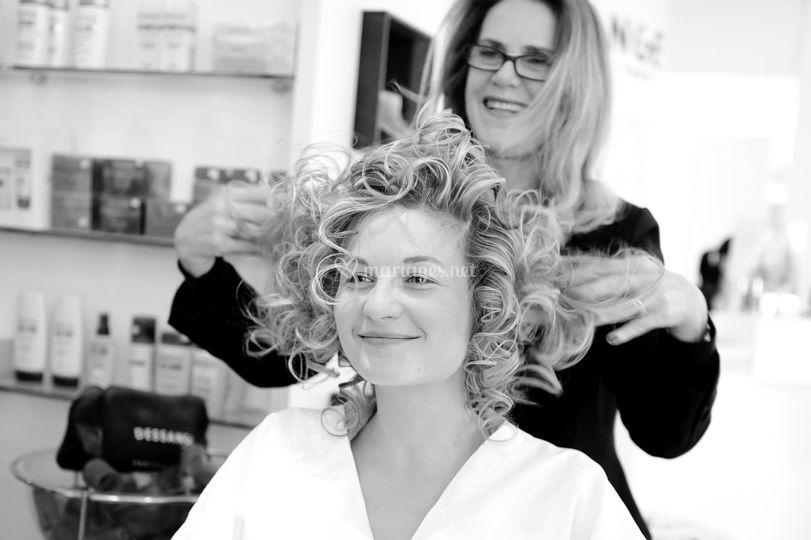 Photo coiffure de la mariée