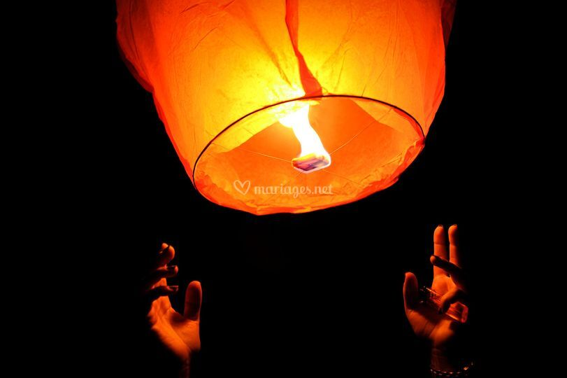 Les lanternes émotion mariage