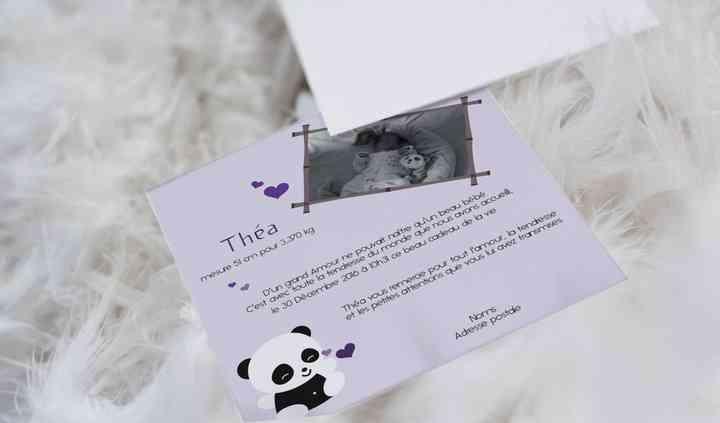 Faire-part naissance - Panda