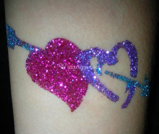 Tatouage double coeur