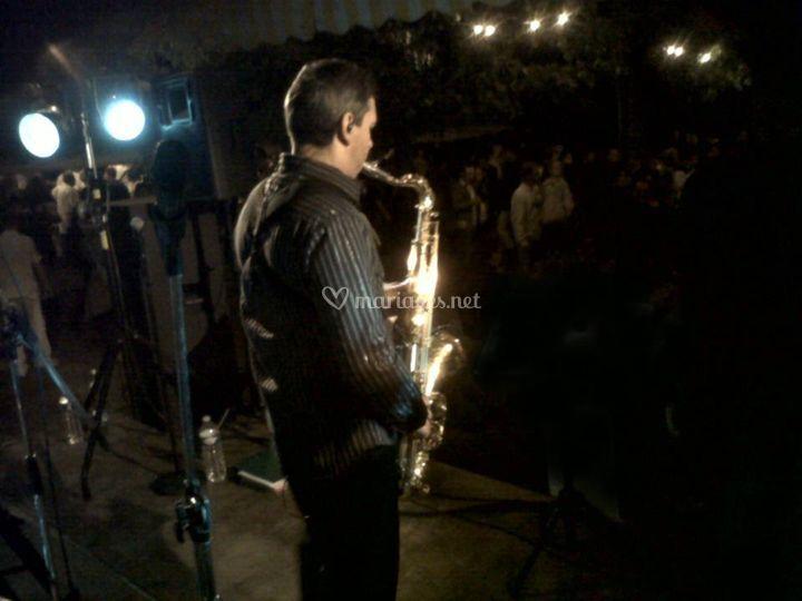 Saxophoniste jazz lounge DJ
