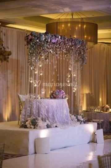 Table d'honneur des mariés
