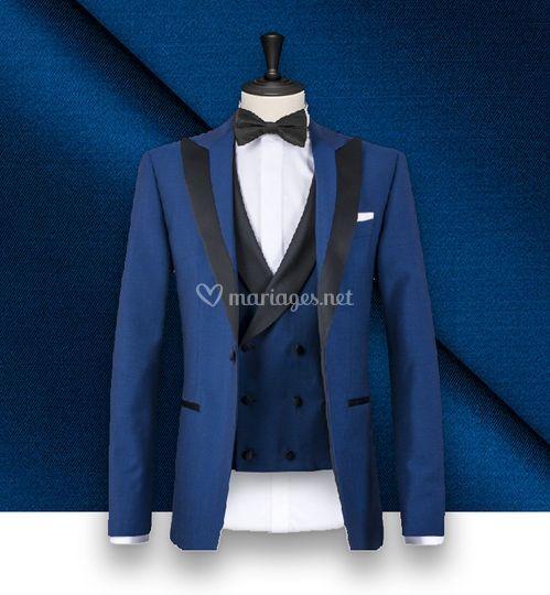 Smoking couture bleu intense