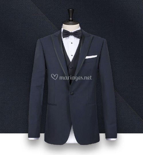 Smoking couture bleu nuit