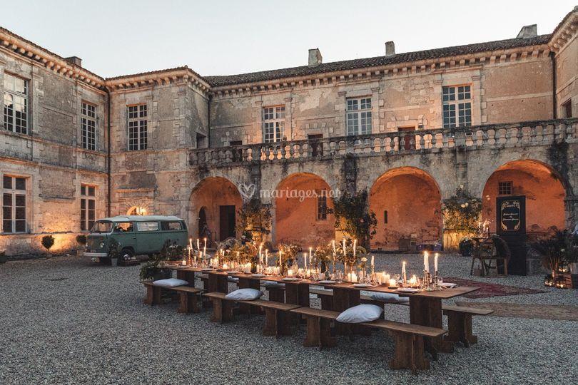 Réception cours du Château