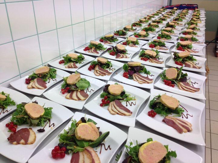 Salade folle de foie gras