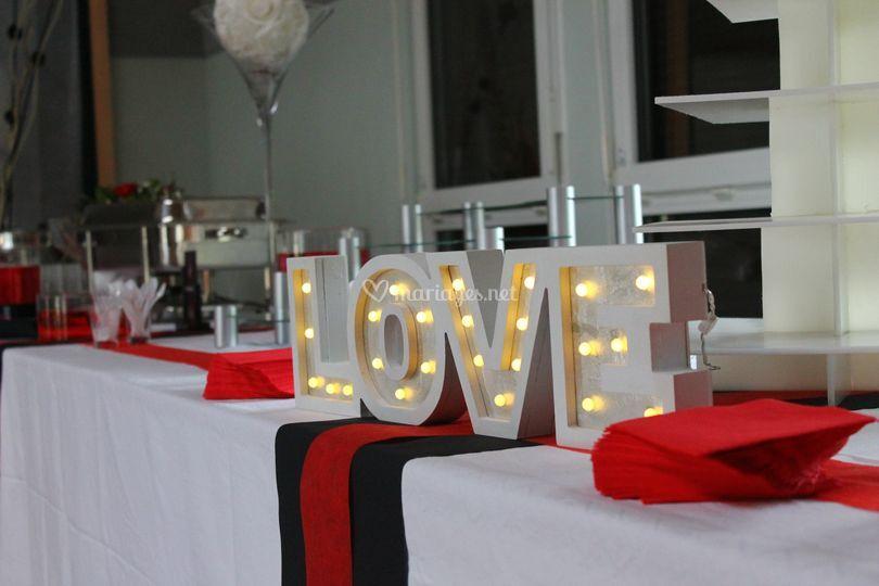 Buffet décor mariage
