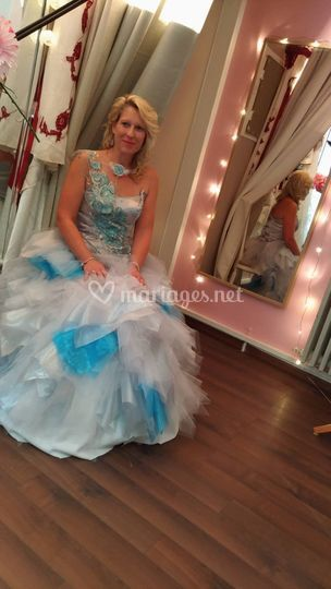 Robe bustier lacé jupe tulle
