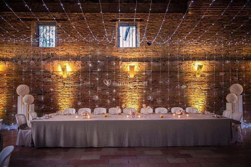Table des Mariés salle Bernuy
