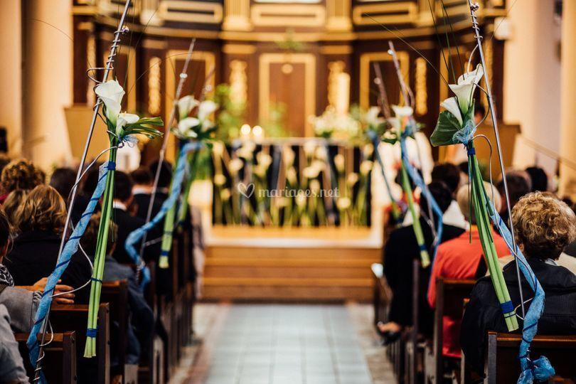 Décor allée église