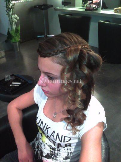 Jess makeup - vu de profil